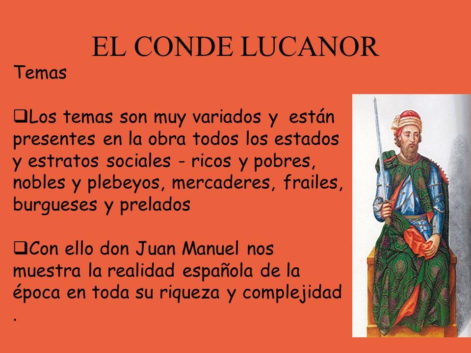 EL CONDE LUCANOR Temas.