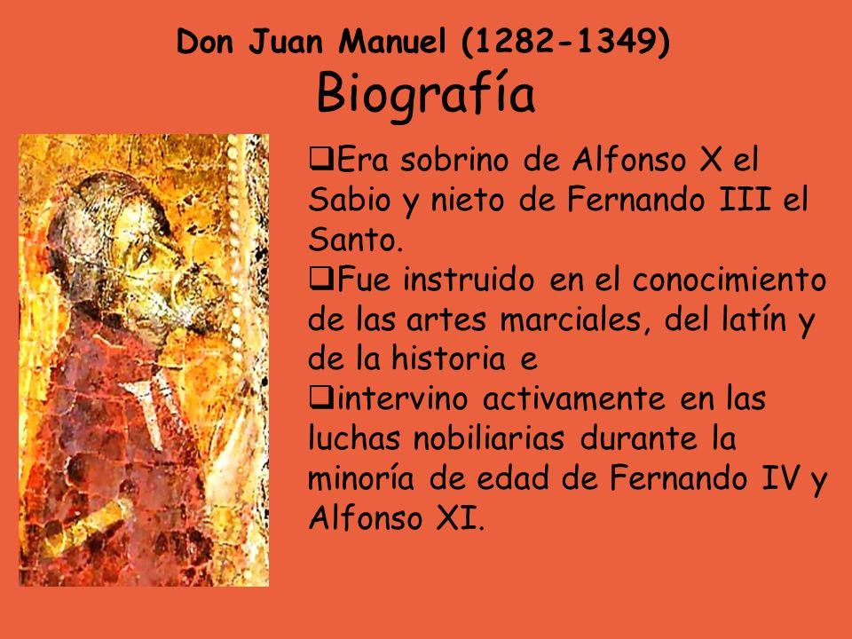 Biografía Don Juan Manuel (1282-1349)