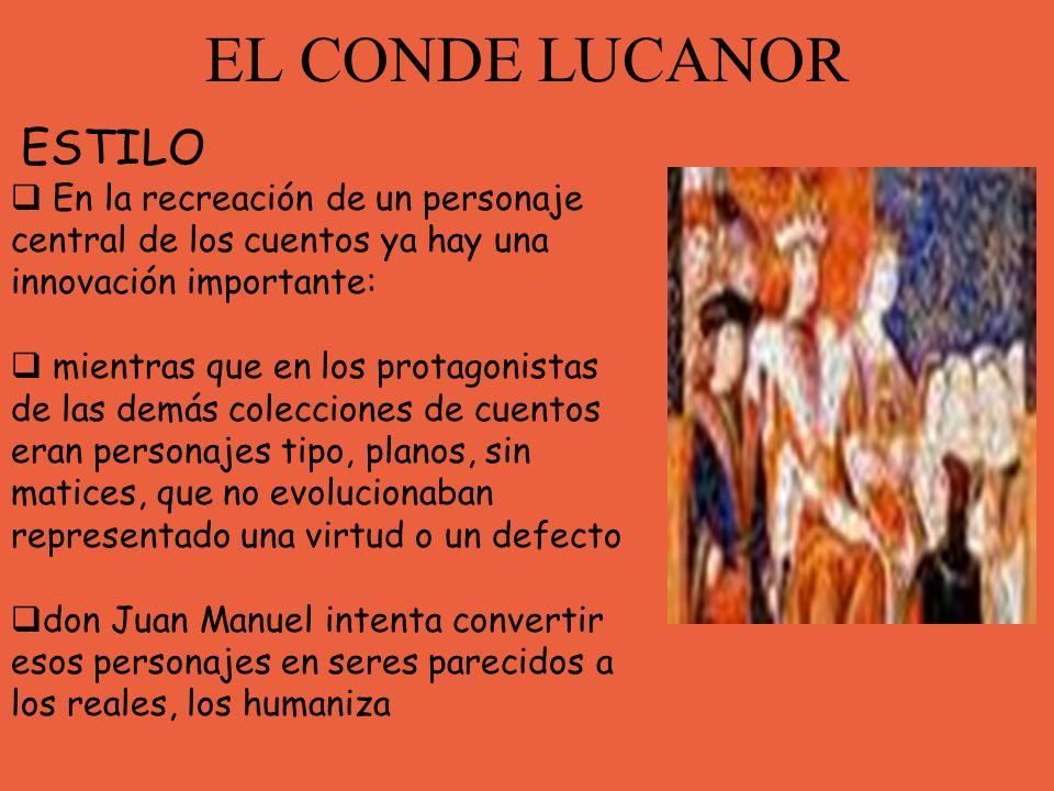 EL CONDE LUCANOR ESTILO