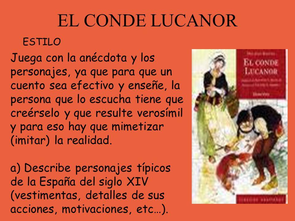 EL CONDE LUCANOR ESTILO.