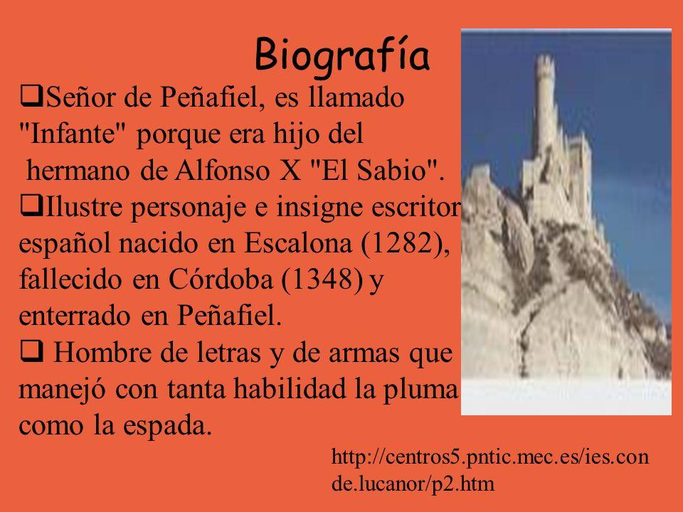 Biografía Señor de Peñafiel, es llamado Infante porque era hijo del