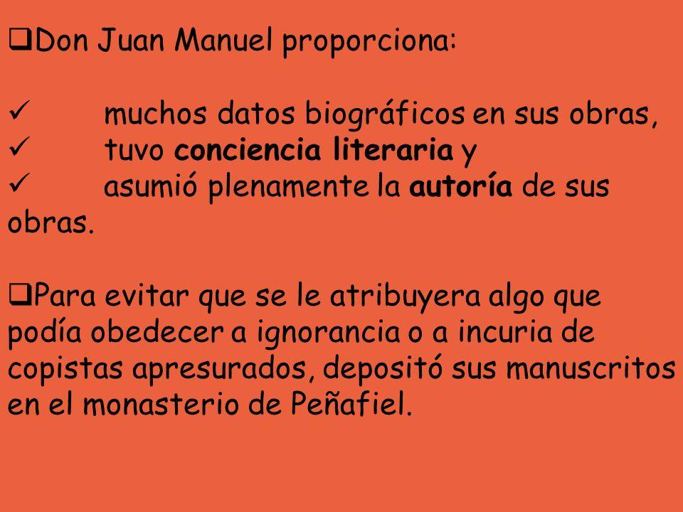 Don Juan Manuel proporciona: