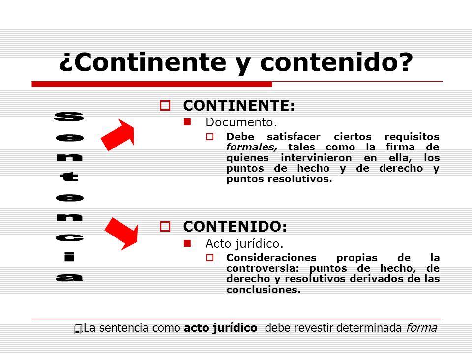 ¿Continente y contenido