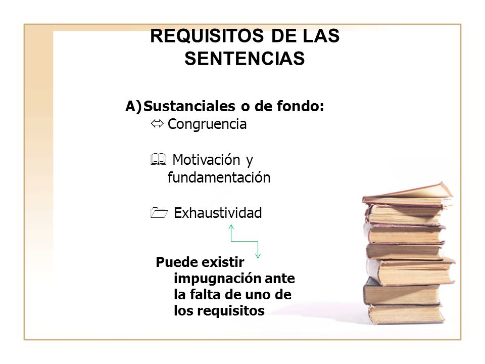 REQUISITOS DE LAS SENTENCIAS
