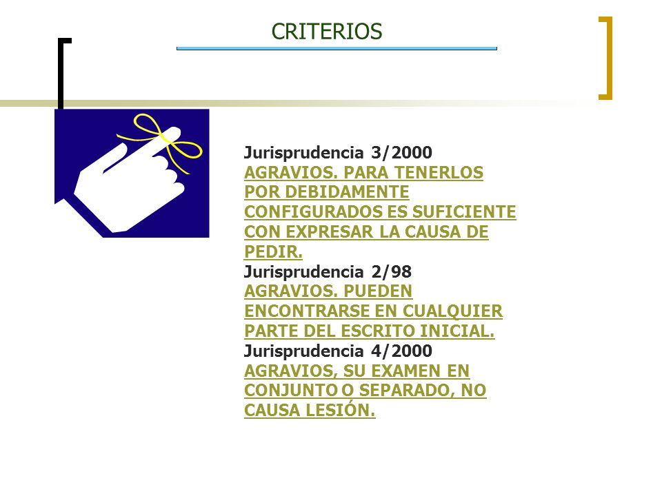 CRITERIOS Jurisprudencia 3/2000