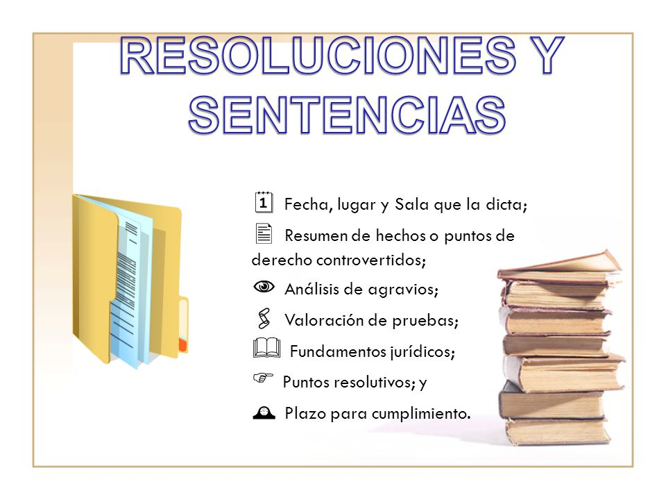 RESOLUCIONES Y SENTENCIAS