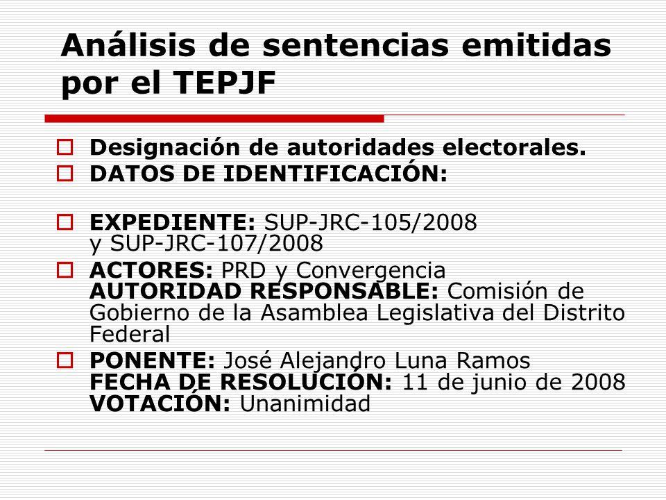 Análisis de sentencias emitidas por el TEPJF