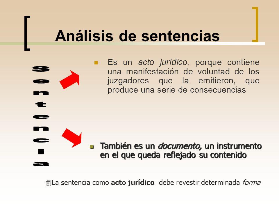 Análisis de sentencias