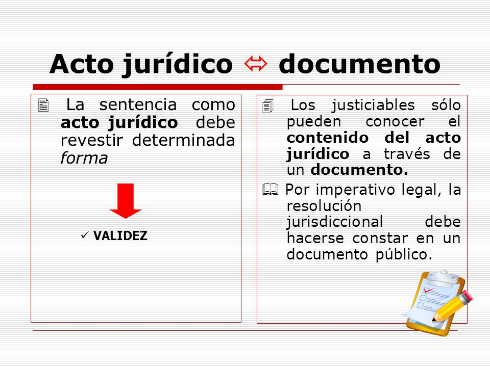 Acto jurídico  documento