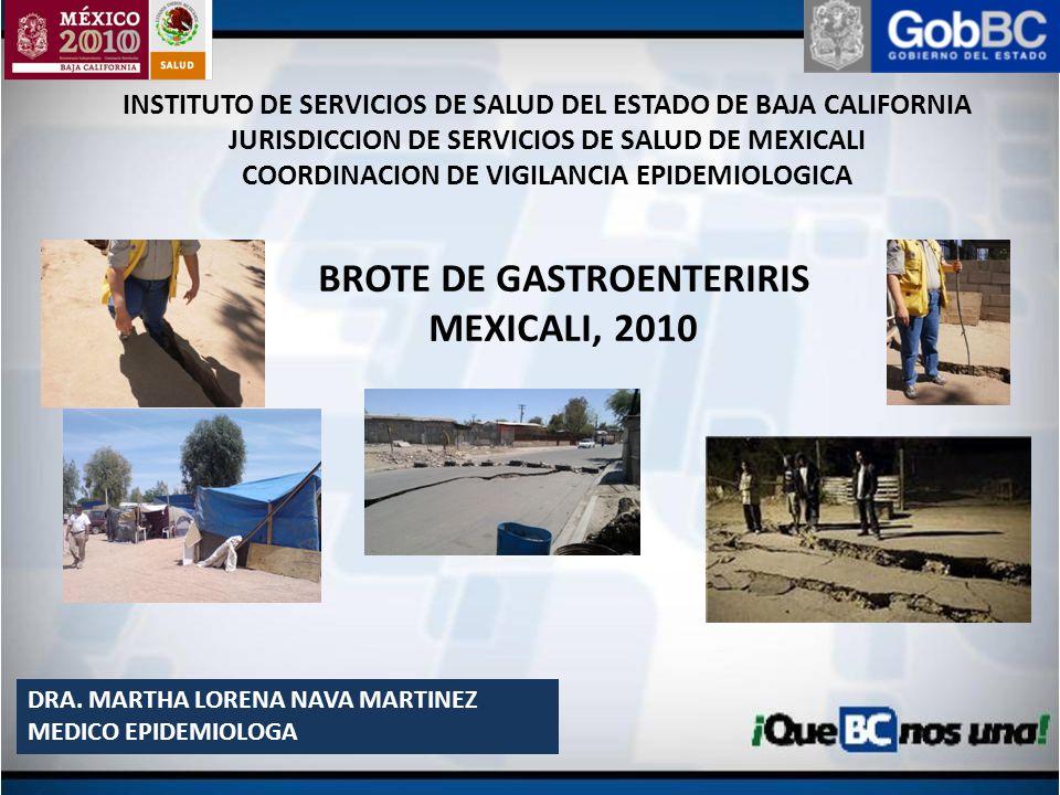BROTE DE GASTROENTERIRIS MEXICALI, 2010