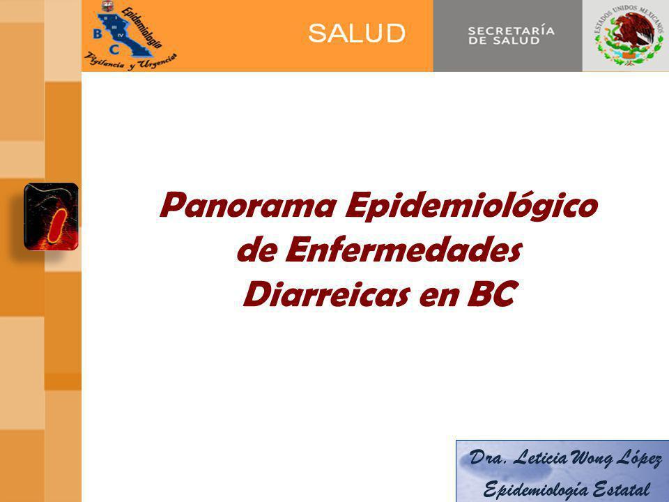Panorama Epidemiológico de Enfermedades Diarreicas en BC