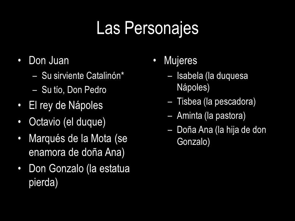 Las Personajes Don Juan El rey de Nápoles Octavio (el duque)