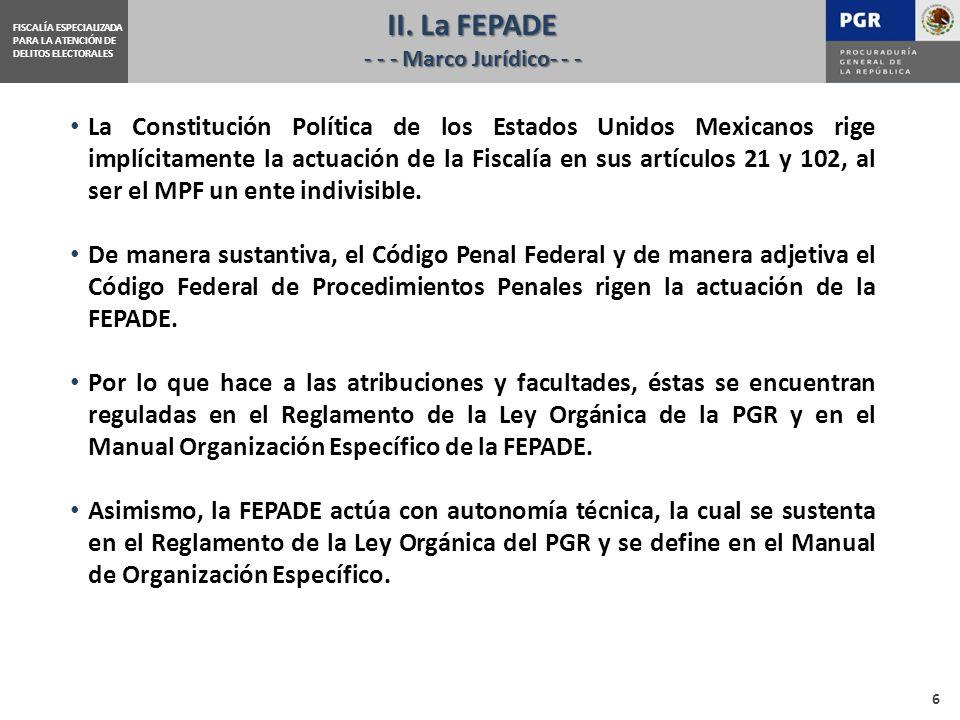 II. La FEPADE - - - Marco Jurídico- - -