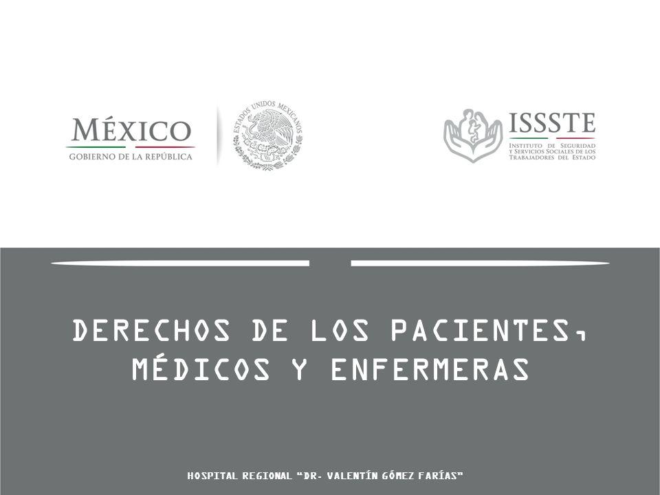 DERECHOS DE LOS PACIENTES, MÉDICOS Y ENFERMERAS