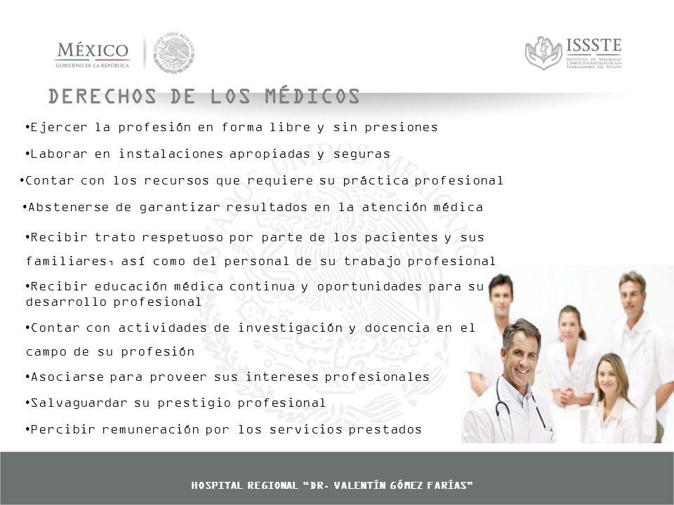 DERECHOS DE LOS MÉDICOS