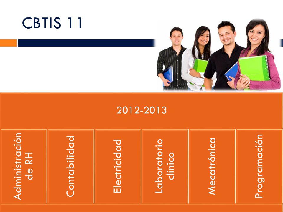 CBTIS 11 2012-2013 Administración de RH Contabilidad Electricidad