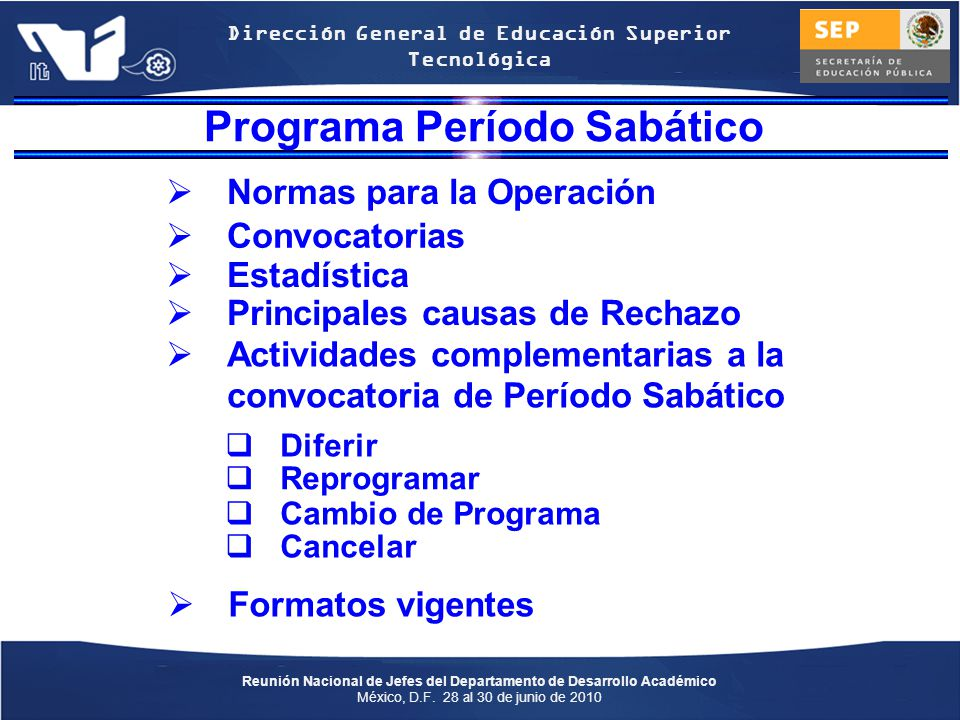 Programa Período Sabático