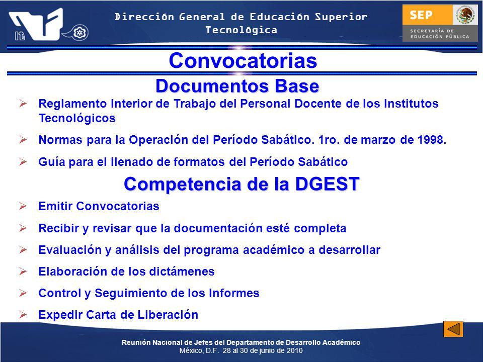 Competencia de la DGEST