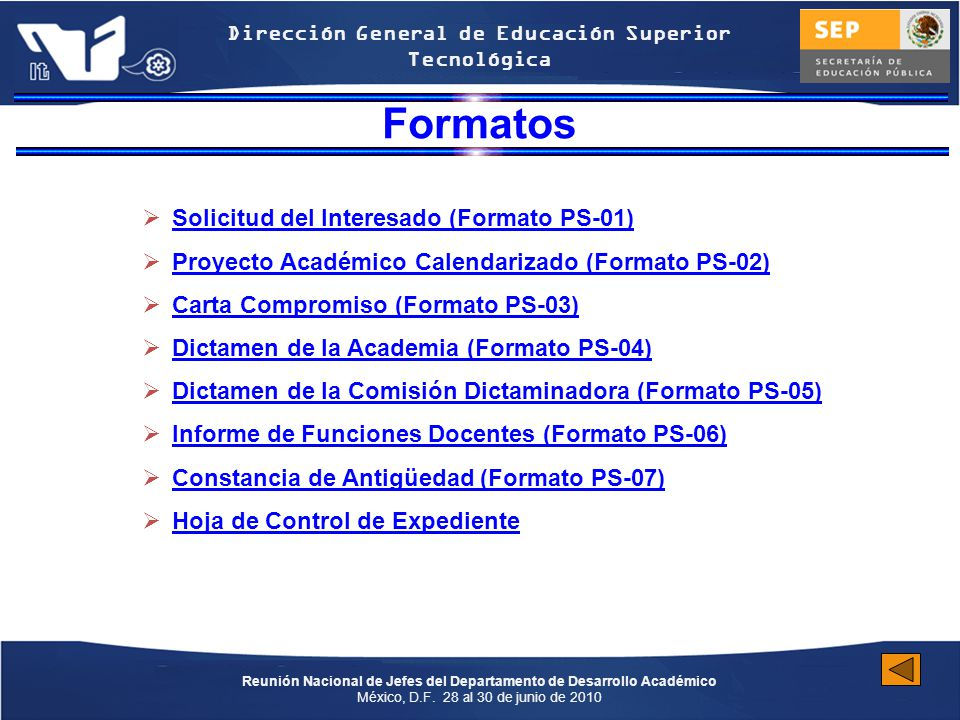 Formatos Solicitud del Interesado (Formato PS-01)
