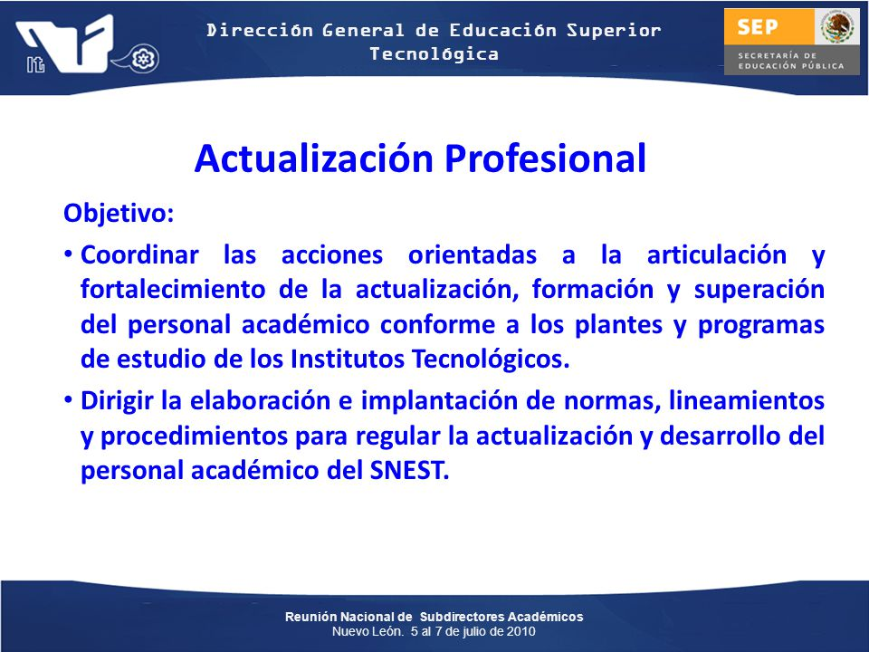 Actualización Profesional