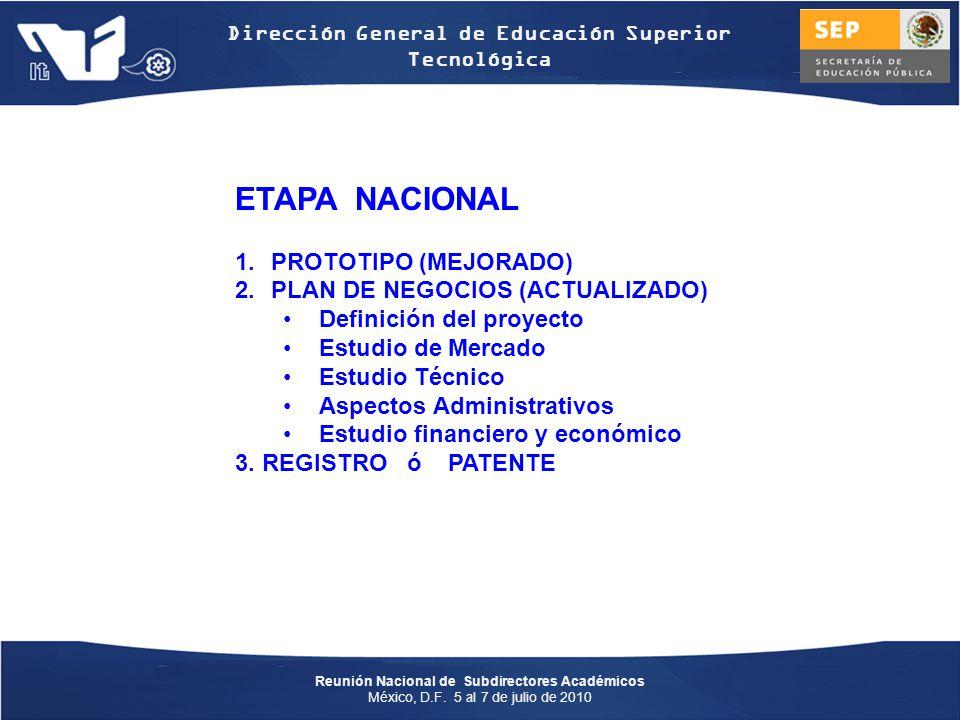 ETAPA NACIONAL PROTOTIPO (MEJORADO) PLAN DE NEGOCIOS (ACTUALIZADO)