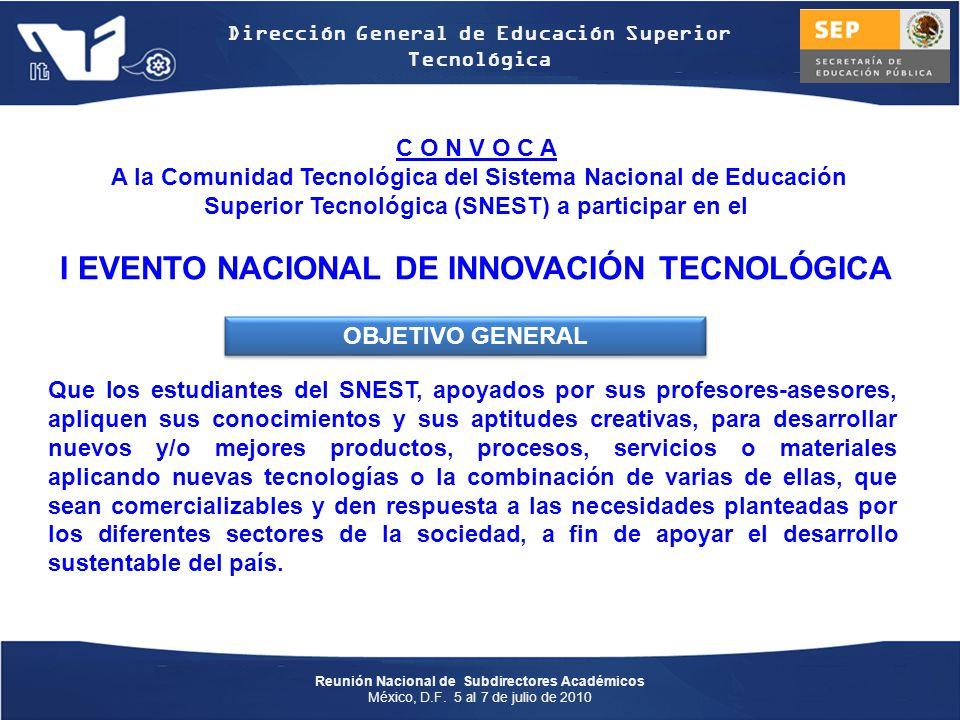 I EVENTO NACIONAL DE INNOVACIÓN TECNOLÓGICA