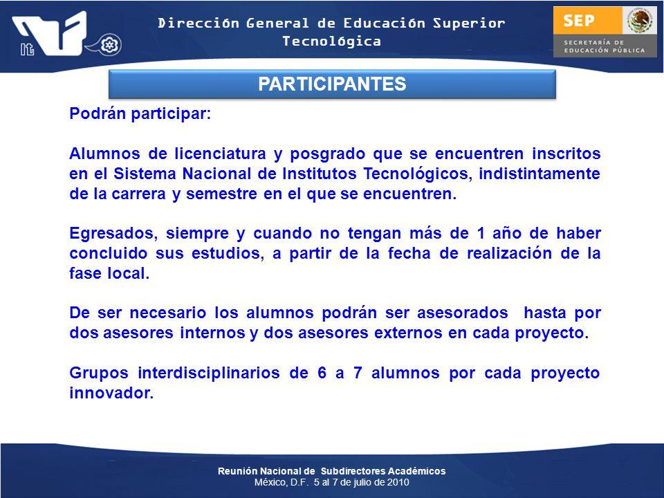 PARTICIPANTES Podrán participar: