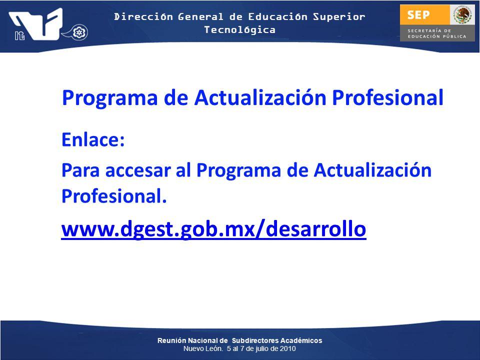 Programa de Actualización Profesional