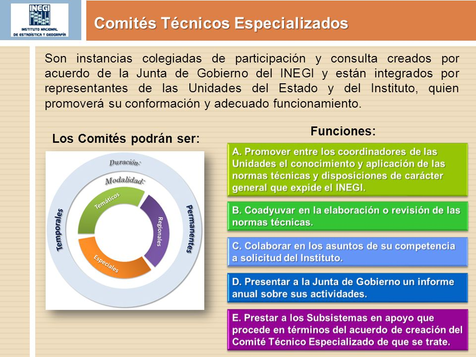 Comités Técnicos Especializados