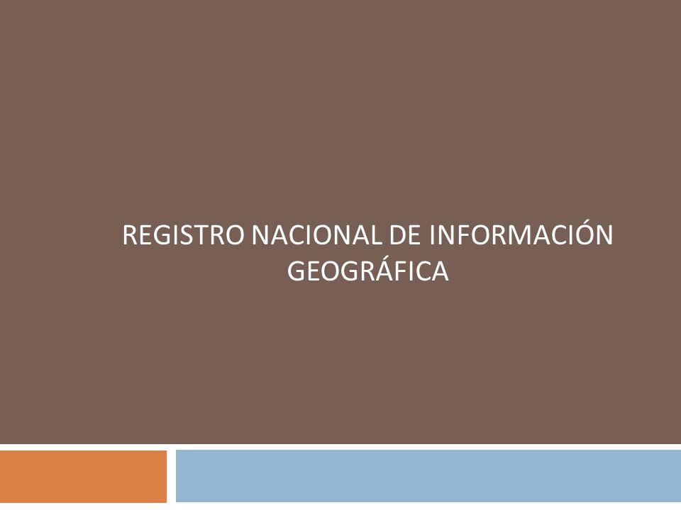 REGISTRO NACIONAL DE INFORMACIÓN GEOGRÁFICA