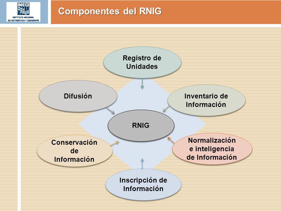 Componentes del RNIG Registro de Unidades Difusión