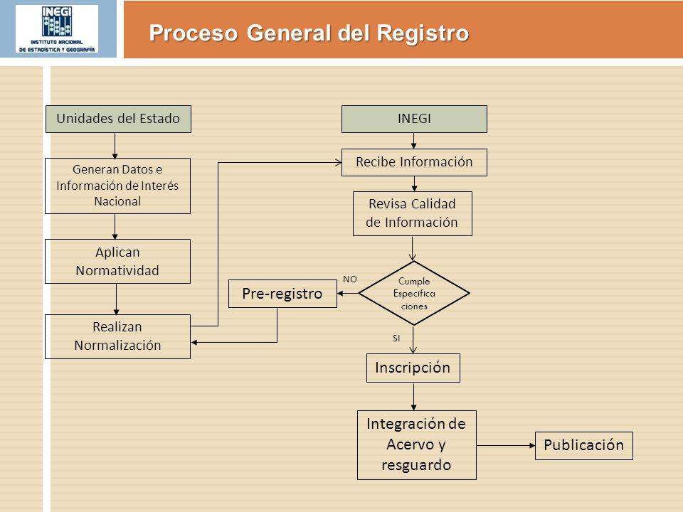Proceso General del Registro