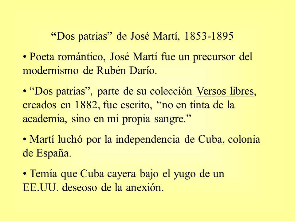 Dos patrias de José Martí, 1853-1895