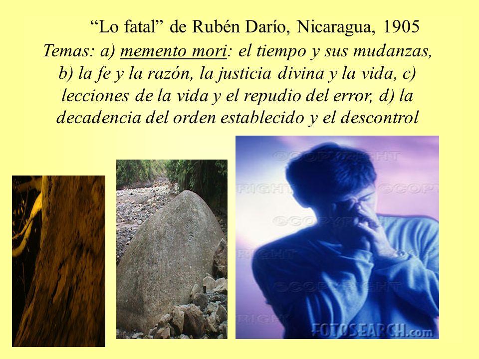 Lo fatal de Rubén Darío, Nicaragua, 1905