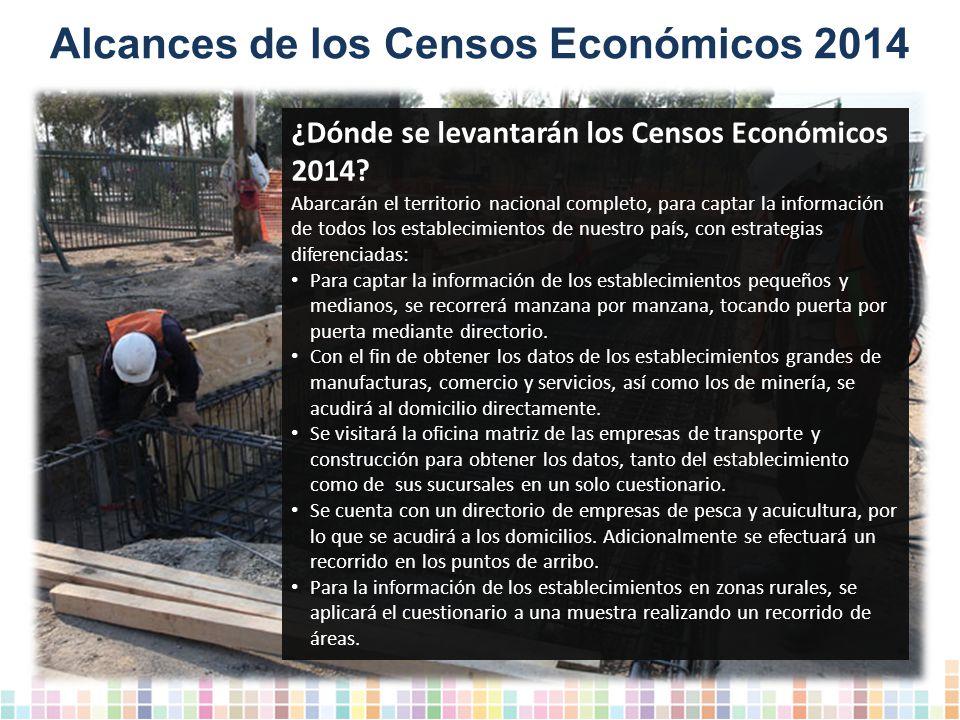 Alcances de los Censos Económicos 2014