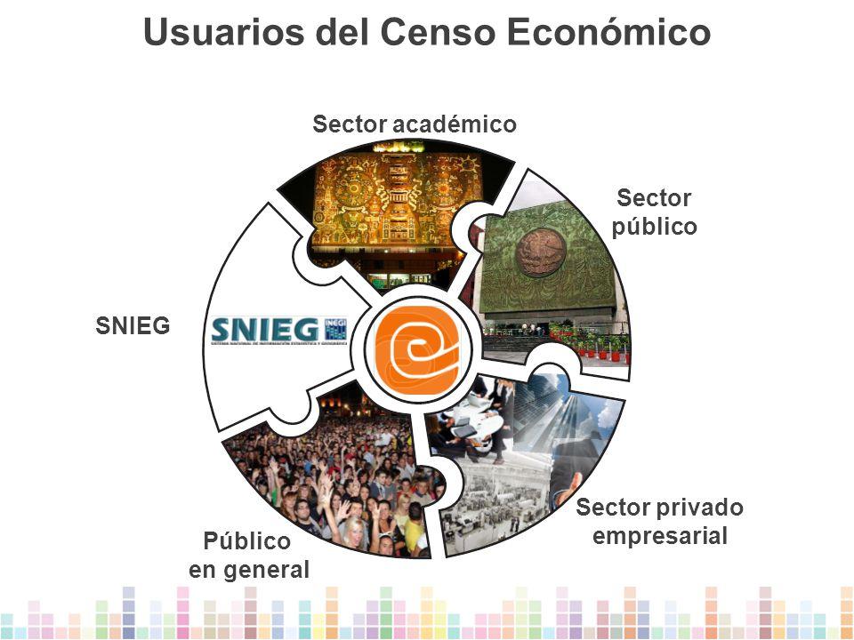 Usuarios del Censo Económico Sector privado empresarial