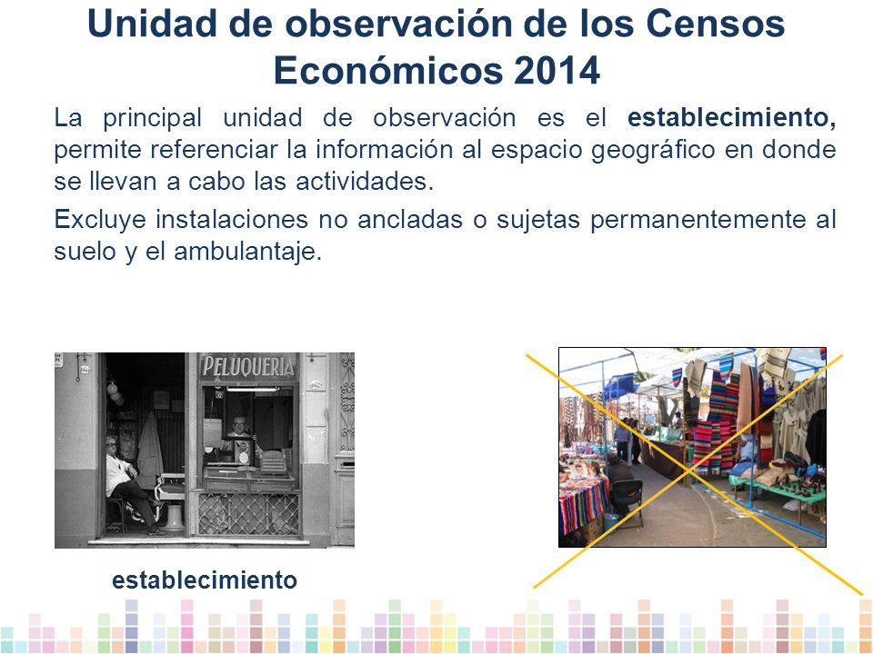 Unidad de observación de los Censos Económicos 2014