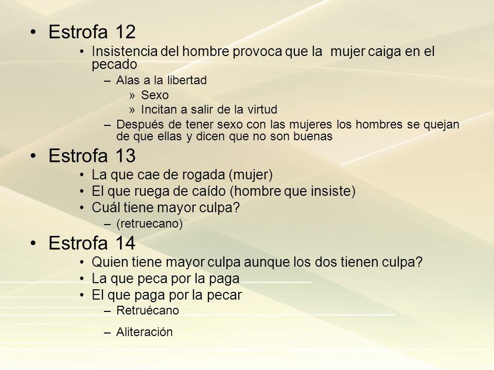 Estrofa 12 Estrofa 13 Estrofa 14