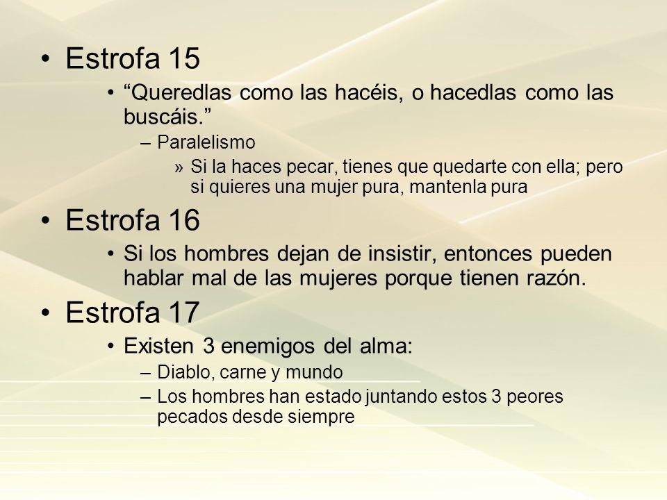 Estrofa 15 Estrofa 16 Estrofa 17