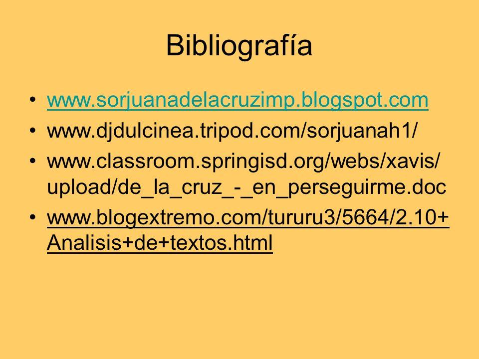 Bibliografía www.sorjuanadelacruzimp.blogspot.com