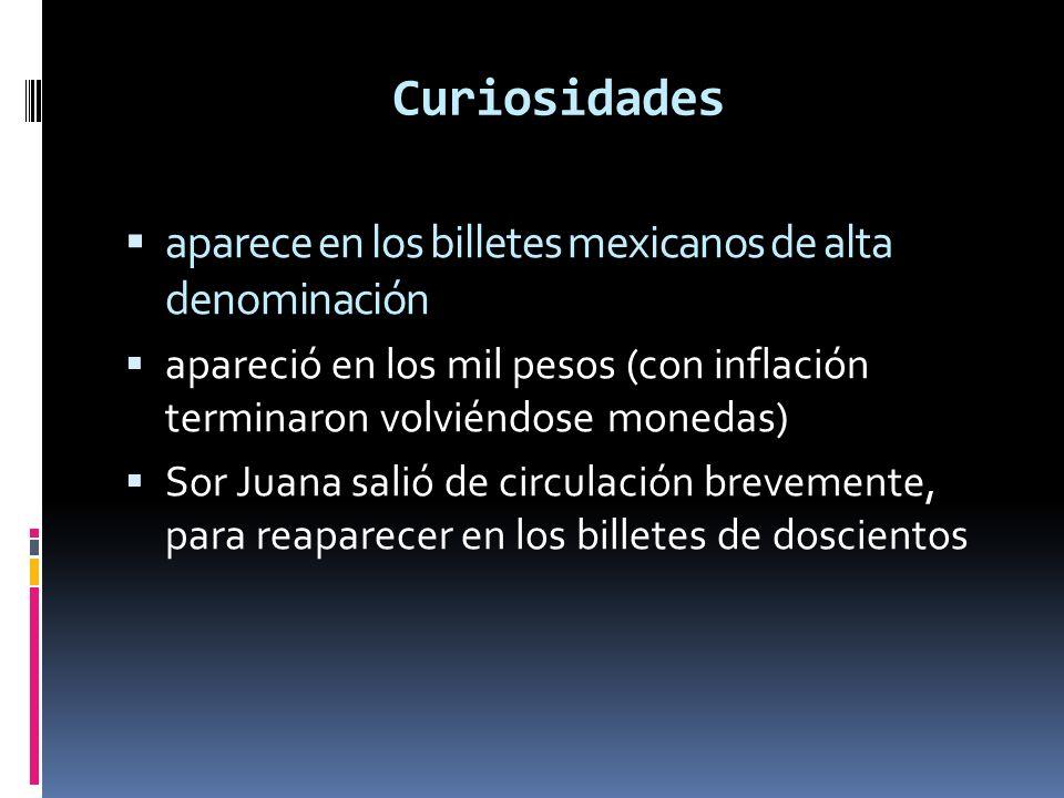 Curiosidades aparece en los billetes mexicanos de alta denominación