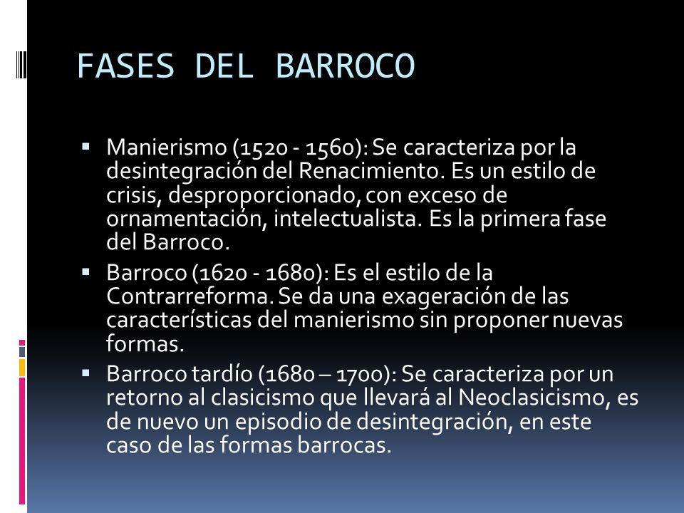FASES DEL BARROCO