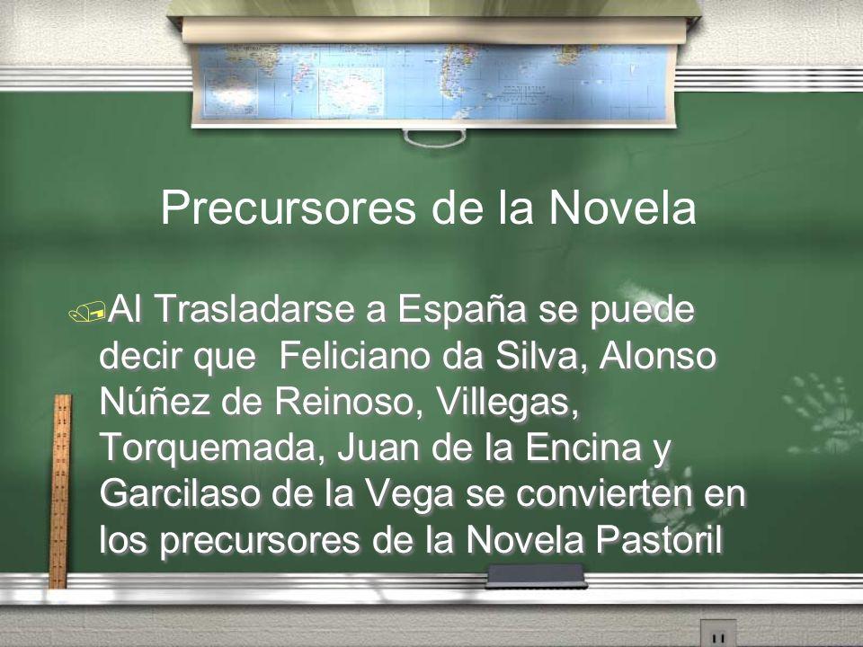 Precursores de la Novela