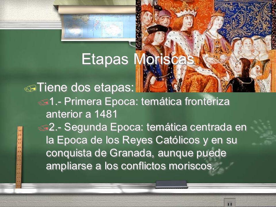 Etapas Moriscas Tiene dos etapas: