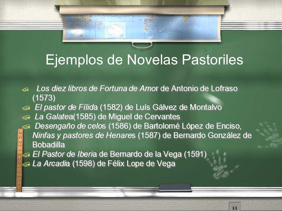 Ejemplos de Novelas Pastoriles