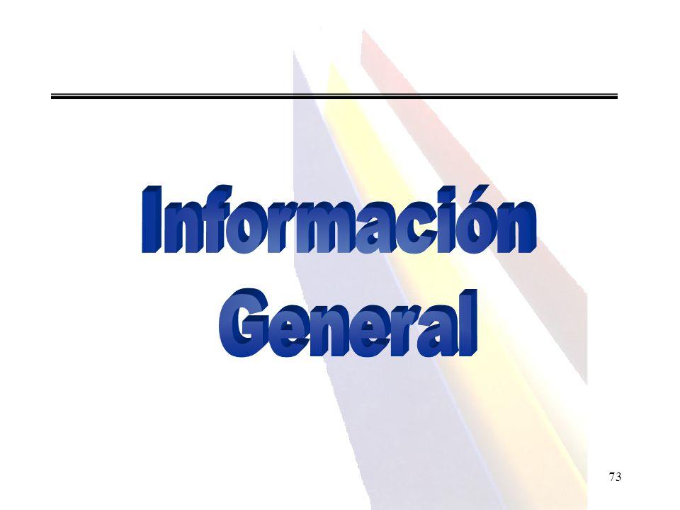 Información General 73 73