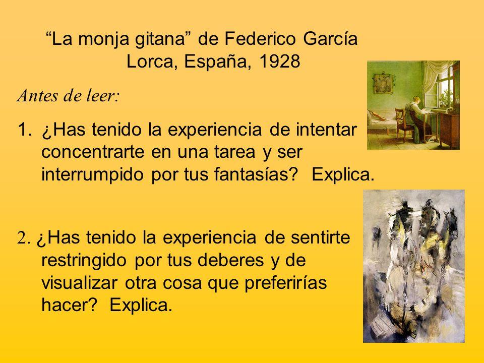 La monja gitana de Federico García Lorca, España, 1928