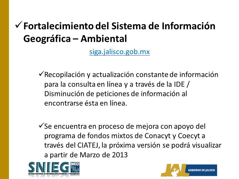 Fortalecimiento del Sistema de Información Geográfica – Ambiental
