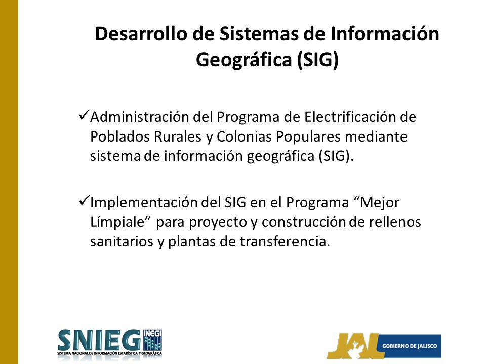 Desarrollo de Sistemas de Información Geográfica (SIG)