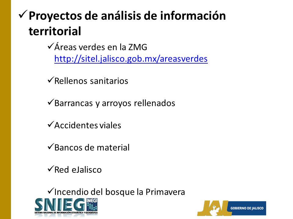 Proyectos de análisis de información territorial
